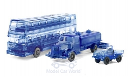 Modelcar - <strong>Set</strong> Jubiläums-Set: The Gläsernen, Büssing D2U, MB L 5000 Sprengwagen and Unimog U 411<br /><br />Wiking / PMS, 1:87<br />No. 217575