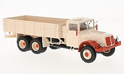 Modelcar - <strong>Tatra</strong> 111, beige/red, flatbed platform trailer<br /><br />Premium ClassiXXs, 1:43<br />No. 217600
