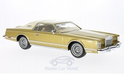 ModelCar - <strong>Lincoln</strong> Continental MkV Coupe, gold/hellbeige, 1978<br /><br />BoS-Models, 1:18<br />No. 217838