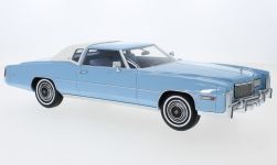 Modelcar - <strong>Cadillac</strong> Eldorado, metallic-light blue/white, 1976<br /><br />BoS-Models, 1:18<br />No. 217890