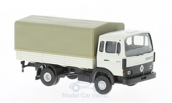 Modelcar - <strong>Renault</strong> JN90, light grey, flatbed platform trailer/cover, without showcase<br /><br />Brekina, 1:87<br />No. 218525