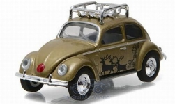 Modelcar - <strong>VW</strong> beetle, gold/Decorated, Holliday Collection, without showcase<br /><br />Greenlight, 1:64<br />No. 218766