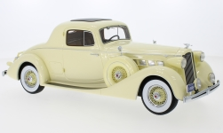ModelCar - <strong>Packard</strong> Super Eight Coupe, hellgelb, 1936<br /><br />CMF, 1:18<br />No. 219208