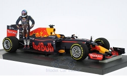Modellauto - <strong>Red Bull</strong> TAG Heuer RB12, No.3, Red Bull Racing Formula One Team, Formel 1, GP Österreich, mit Figur, D.Ricciardo, 2016<br /><br />Minichamps, 1:18<br />Nr. 219613