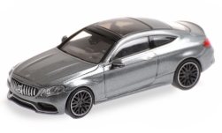 Modellauto - <strong>Mercedes</strong> AMG C63 Coupe (C205), matt-grau, 2015<br /><br />Minichamps, 1:87<br />Nr. 219705