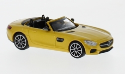 Modellauto - <strong>Mercedes</strong> AMG GTS Roadster, metallic-gelb, 2017<br /><br />Minichamps, 1:87<br />Nr. 219719