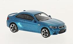 Modelcar - <strong>BMW</strong> M2, metallic-blue, 2016<br /><br />Minichamps, 1:87<br />No. 219723