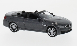 Modellauto - <strong>BMW</strong> M4 Cabriolet, metallic-grau, 2015<br /><br />Minichamps, 1:87<br />Nr. 219728