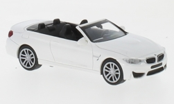 Modelcar - <strong>BMW</strong> M4 Convertible, white, 2015<br /><br />Minichamps, 1:87<br />No. 219729