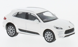 voiture miniature - <strong>Porsche</strong> Macan Turbo, blanche, 2013<br /><br />Minichamps, 1:87<br />N° 219756