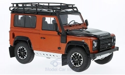 ModelCar - <strong>Land Rover</strong> Defender 90 Adventure, metallic-orange/schwarz<br /><br />Kyosho, 1:18<br />番号 219843