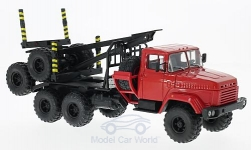 Modellauto - <strong>KrAZ</strong> 64372, rood, Holztransporter zonder Laden<br /><br />SpecialC.-81, 1:43<br />Nr. 220596