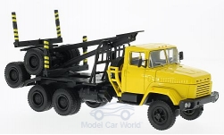 Modellauto - <strong>KrAZ</strong> 64371, geel, Holztransporter zonder Laden<br /><br />SpecialC.-81, 1:43<br />Nr. 220597