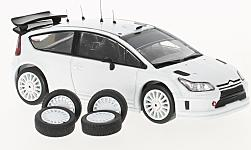 Modelcar - <strong>Citroen</strong> C4 WRC, white, Plain Body Version, including 4 Ersatzräder, 2010<br /><br />IXO, 1:43<br />No. 220864