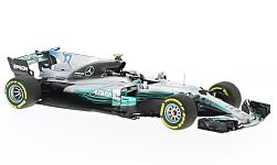 Modelcar - <strong>Mercedes</strong> F1 W08 EQ Power+, No.77, Mercedes AMG Petronas Motor Sport, Petronas, formula 1, GP Spain, V.Bottas, 2017<br /><br />Minichamps, 1:43<br />No. 220981