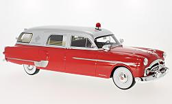 Modellauto - <strong>Packard</strong> Henney Ambulance, rot/silber, Krankenwagen, 1952<br /><br />BoS-Models, 1:18<br />Nr. 221065