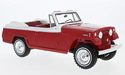 Modelcar - <strong>Jeep</strong> Jeepster Commando Convertible, red/white, 1970<br /><br />BoS-Models, 1:18<br />No. 221077
