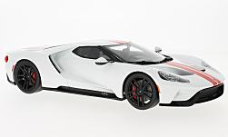 Modelcar - <strong>Ford</strong> GT, white/red, 2017<br /><br />GT Spirit, 1:18<br />No. 221170