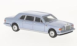 Modelcar - <strong>Rolls Royce</strong> silver track II Touring Limousine, metallic-light blue, 1985<br /><br />BoS-Models, 1:87<br />No. 221195