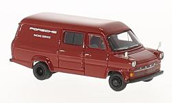 Modelcar - <strong>Ford</strong> Transit Mk. I, red, Porsche Racing service, 1965<br /><br />BoS-Models, 1:87<br />No. 221204