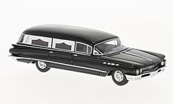 Modelcar - <strong>Buick</strong>  Flxible Premier Hearse, black, 1960<br /><br />BoS-Models, 1:87<br />No. 221219