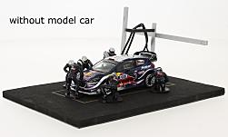 Modelcar - <strong>Set</strong> Pit Stop, blue, 6 figures with Decals and accessories<br /><br />IXO, 1:43<br />No. 221601
