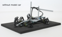 Modelcar - <strong>Set</strong> Pit Stop, black, 6 figures with Decals and accessories<br /><br />IXO, 1:43<br />No. 221602
