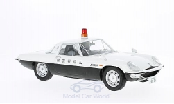 Modellauto - <strong>Mazda</strong> Cosmo Sport, wit/zwart, RHD, Politie Japan, Diecast Sealed Body Serie, zonder Vitrine<br /><br />Triple 9 Collection, 1:18<br />Nr. 221714