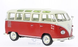 Modelcar - <strong>VW</strong> T1, red/light beige, samba, 1962<br /><br />KK-Scale, 1:18<br />No. 221719