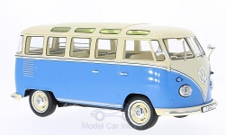 Modelcar - <strong>VW</strong> T1, blue/light beige, samba, 1962<br /><br />KK-Scale, 1:18<br />No. 221721