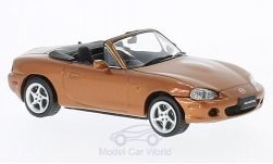 Modellauto - <strong>Mazda</strong> MX-5 Roadster, metallic-dunkelorange, RHD, 2001<br /><br />First 43 Models, 1:43<br />Nr. 221818