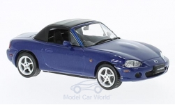 Modellauto - <strong>Mazda</strong> MX-5 Roadster, metallic-blauw, RHD, 2001<br /><br />First 43 Models, 1:43<br />Nr. 221819