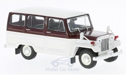 Modellauto - <strong>Mitsubishi</strong> Jeep J30, wit/purper, RHD, 1961<br /><br />First 43 Models, 1:43<br />Nr. 221825