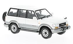 Modellino - <strong>Toyota</strong> Land cruiser LC80, metallic-bianco/argento, RHD, 1992<br /><br />First 43 Models, 1:43<br />n. 221850