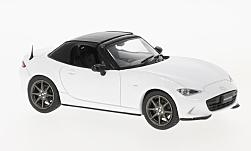 Modellauto - <strong>Mazda</strong> Roadster, wit/zwart, RHD, gesloten, 2015<br /><br />First 43 Models, 1:43<br />Nr. 221861