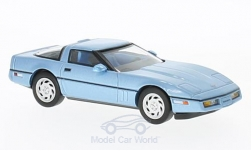 Modelcar - <strong>Chevrolet</strong> Corvette (C4), metallic-light blue, 1984<br /><br />Premium X, 1:43<br />No. 222053