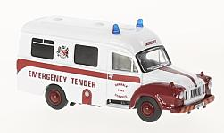 Modellauto - <strong>Bedford</strong> J1, Dundalk Fire Service, Ambulance<br /><br />Oxford, 1:76<br />Nr. 222219