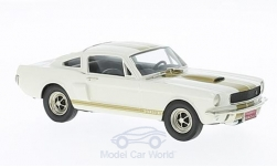 Modellauto - <strong>Ford</strong> Mustang, weiss/gold, ohne Vitrine, 1966<br /><br />Brooklin, 1:43<br />Nr. 222440