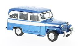 Modelcar - <strong>Jeep</strong> Willys Station Wagon, metallic-blue/white, 1960<br /><br />IXO, 1:43<br />No. 222644