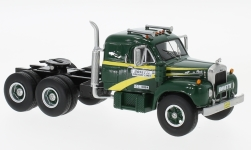 Modelcar - <strong>Mack</strong>  B-61ST, dark green/yellow, with Sleeper Cab, 1957<br /><br />Neo, 1:64<br />No. 223255