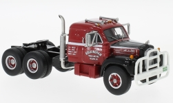 Modelo de coche - <strong>Mack</strong>  B-61ST, rojo/negro, with Sleeper Cab, 1957<br /><br />Neo, 1:64<br />Nº 223256