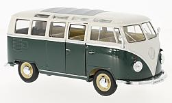 Modelcar - <strong>VW</strong> T1 samba, dark green/white, 1963<br /><br />Welly, 1:24<br />No. 223413
