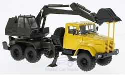 Modellauto - <strong>KrAZ</strong> 6322 AO-4422, gelb/dunkeloliv<br /><br />SpecialC.-81, 1:43<br />Nr. 223458