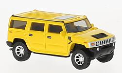 Modellauto - <strong>Hummer</strong> H2, gelb, 2003<br /><br />BoS-Models, 1:87<br />Nr. 223666