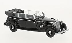 Modelcar - <strong>Mercedes</strong> 770 (W150) Spezial Tourenwagen, black, 1938<br /><br />BoS-Models, 1:87<br />No. 223671