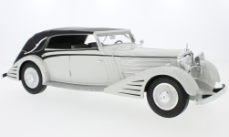 Modelcar - <strong>Maybach</strong>  DS8 streamliner-Convertible Spohn, light grey/black, 1934<br /><br />CMF, 1:18<br />No. 223718