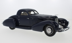 Modelcar - <strong>Duesenberg</strong>  Model J Walker-LaGrande Aerodynamic Coupe, dark blue/matt-dark blue, 1935<br /><br />CMF, 1:18<br />No. 223719