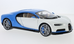 Modellauto - <strong>Bugatti</strong> Chiron, wit/lichtblauw, 2016<br /><br />Welly, 1:18<br />Nr. 223837