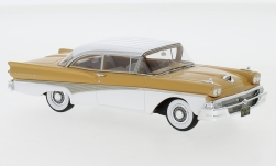 voiture miniature - <strong>Ford</strong> Fairlane 500 Hardtop, brun clair/blanche, 1958<br /><br />Neo, 1:43<br />N° 223976