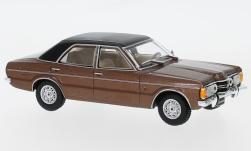Modelcar - <strong>Ford</strong> Taunus GXL, metallic-brown/black, 1974<br /><br />WhiteBox, 1:43<br />No. 224226